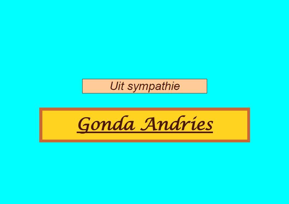 Van Gonda Andries, een supporter