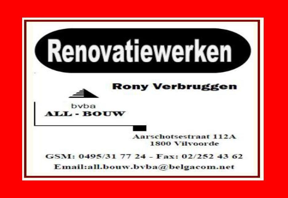 Renovatiewerken Rony Verbruggen